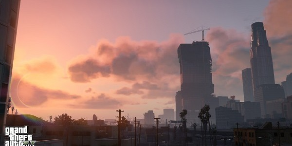The Los Santos skyline.