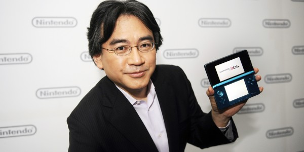 Satoru Iwata, President of Nintendo Co., Ltd., poses after Nintendo&#039;s E3 presentation of their new Nintendo 3DS at the E3 Media &amp; Business Summit in Los Angeles
